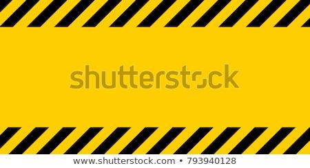 Texture of Warning Black and Yellow Stock photo © nuttakit