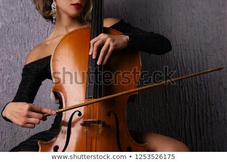 Female cellist. stock photo © oscarcwilliams