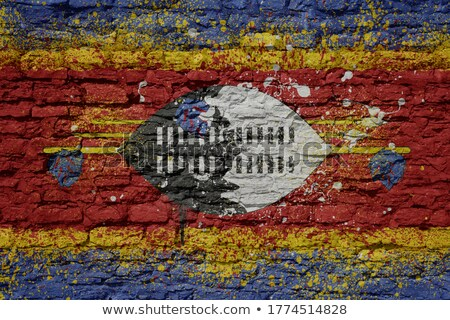 Flag of Swaziland on brick wall Stock photo © creisinger