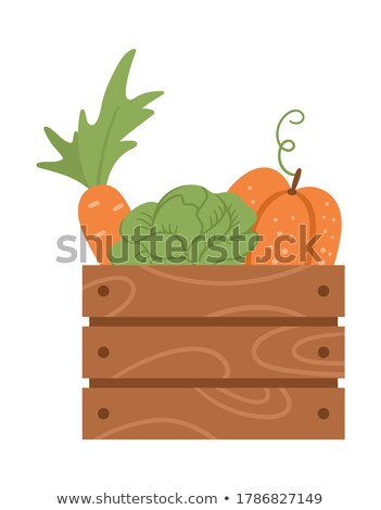 Funny Veggies in a Wooden Box Stock photo © pcanzo
