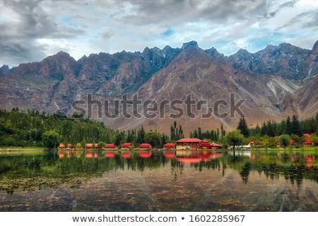 Landscape of Shangri-La tibetan village Stock photo © raywoo