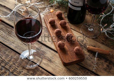 Stock photo: Wine and Chocolate
