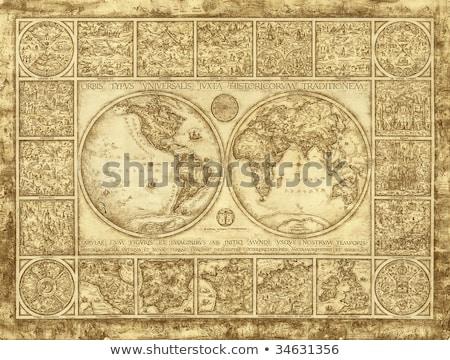 azul · blanco · ilustrado · mapa · del · mundo · textura · mapa - foto stock © wavebreak_media