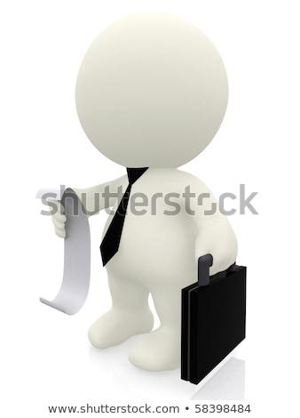 3d person and long bill Stock photo © ribah