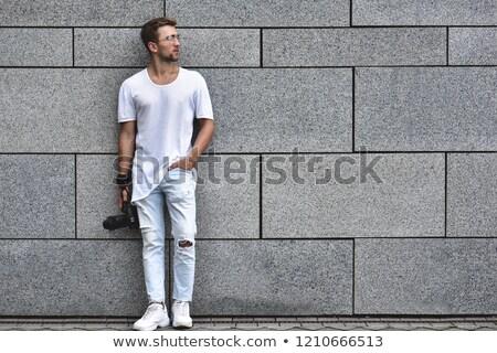 Kép klassz elegáns fickó fiatal férfi Stock fotó © konradbak