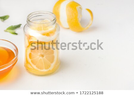 bal · limon · yalıtılmış · beyaz · fotoğraf - stok fotoğraf © masha