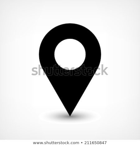 Vector design with round Map Pointer Icon on a clear background. stock photo © articular