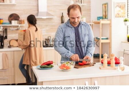 żona pieprz pomidory żywności włosy Zdjęcia stock © photography33