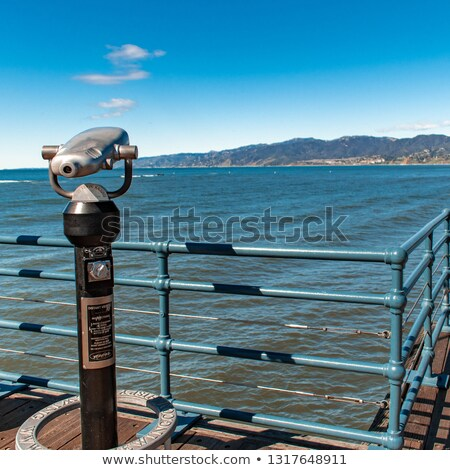 Blue telescope on coast of Malibu Stock photo © backyardproductions