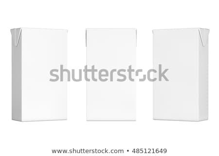 3D lait boîte affaires design magasin Photo stock © digitalgenetics