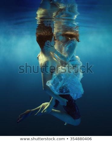 lace dress girl in water #2 Stock photo © dolgachov