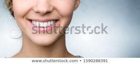 széles · mosoly · portré · boldog · izgatott · nő - stock fotó © Farina6000