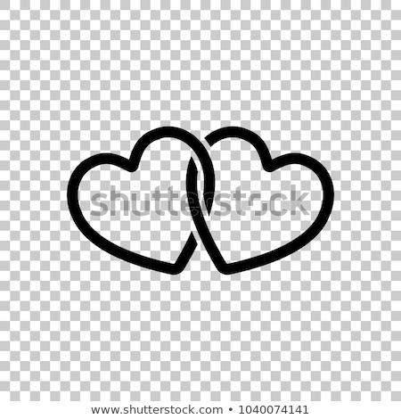 kalpler · gül · gökyüzü · çiçek · çim · manzara - stok fotoğraf © mcherevan