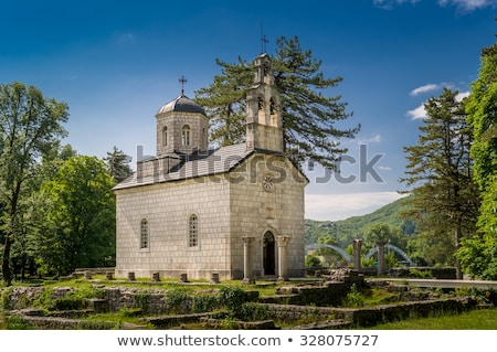 church in cetinje montenegro stock photo © travelphotography