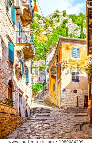 old town street in Kotor Montenegro Stock photo © travelphotography