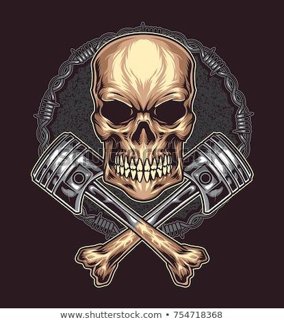 schedel · logo · jas · wild · een · gemakkelijk - stockfoto © fiftyfootelvis