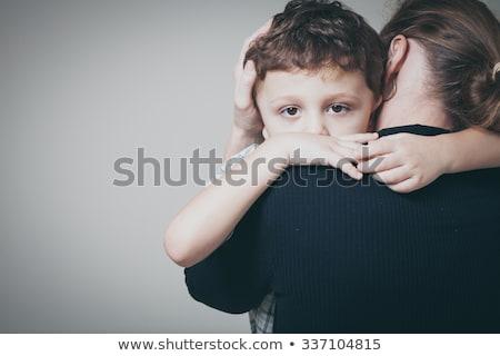 Foto stock: Madre · triste · nino · mujer · familia · vida