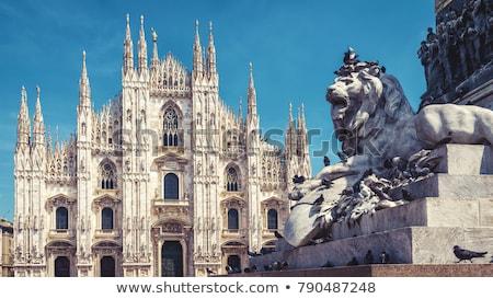 tető · híres · Milánó · katedrális · fehér · márvány - stock fotó © tanart