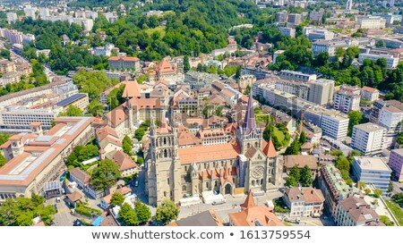 Foto stock: Ver · catedral · torre · Suíça · edifício · igreja