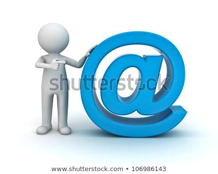 At Sign Shows E-mail Symbol Send Mail Stock photo © stuartmiles