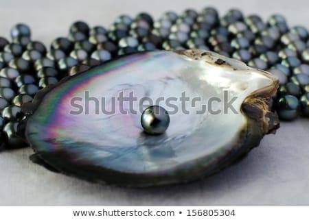 Noir perles 3D résumé fond beauté Photo stock © 123dartist