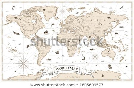 Klasszikus térkép Afrika ősi textúra tenger Stock fotó © Donvanstaden