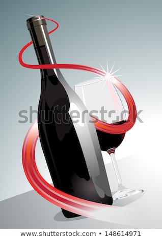 prime · vin · rouge · illustration · bouteille · de · vin · spirale - photo stock © Porteador