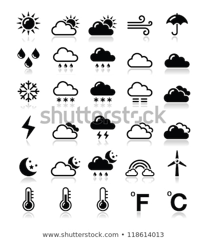 Vector icon umbrella and cloud Stock photo © zzve