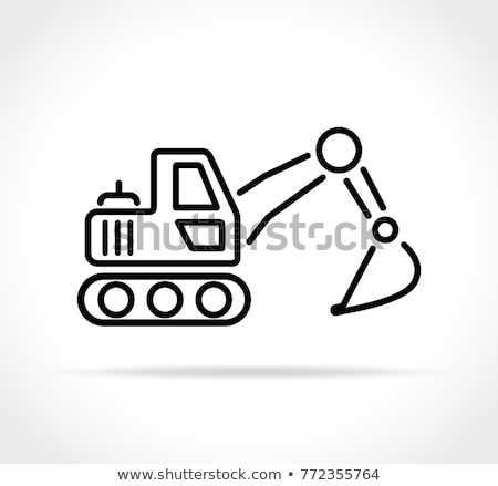 Vektor ikon kotrógép Stock fotó © zzve