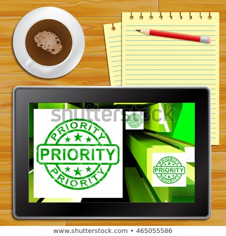 Priority On Cubes Shows Urgent Dispatch Stock photo © stuartmiles