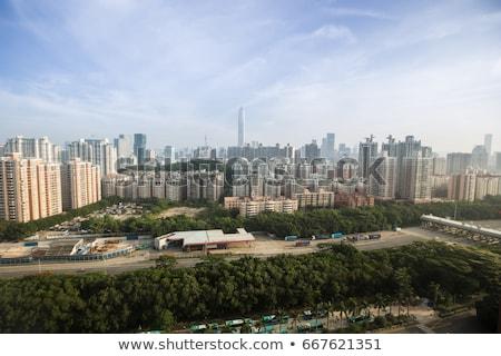 agua · ciudad · China · vista · barco · hombre - foto stock © compuinfoto