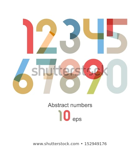 colorful and abstract icons for number 2, set 8 Stock photo © cidepix