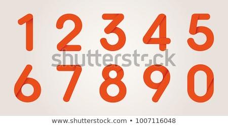 número · três · alfabeto · escrita · aprender · coral - foto stock © cidepix