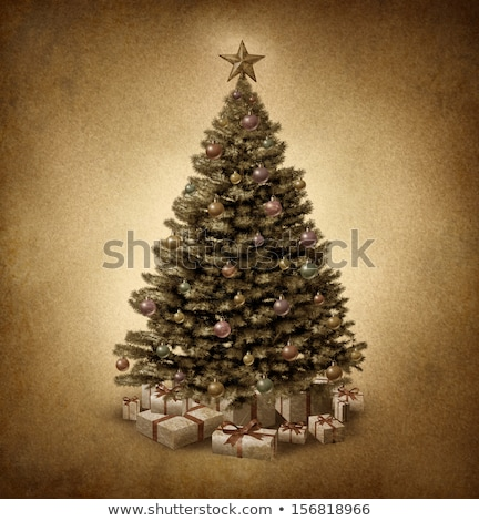 Old Fashioned Christmas Tree Stock photo © Lightsource