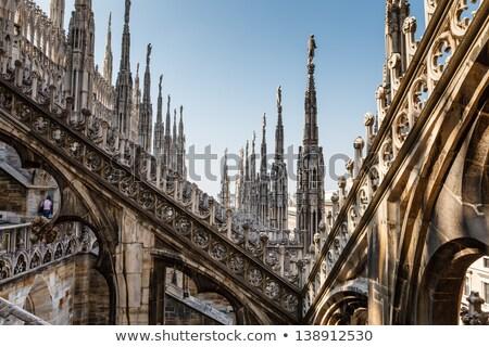 屋根 有名な ミラノ 大聖堂 イタリア 建物 ストックフォト © anshar