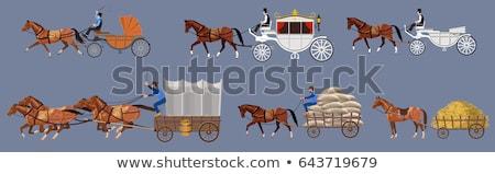 öreg ló fuvar fából készült kerék dől Stock fotó © stevanovicigor
