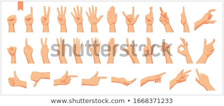 A man's hand giving the Rock and Roll sign Stock photo © bloodua