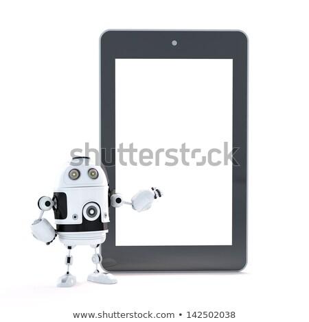 Robô tela sensível ao toque tela negócio homem Foto stock © Kirill_M