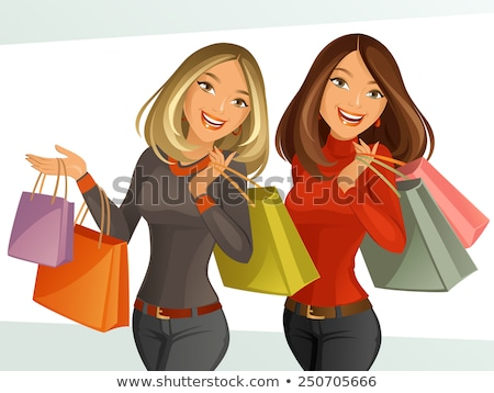 блондинка праздник модель пакеты Сток-фото © actionsports
