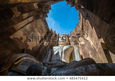 Angkor Wat vue entrée principale Cambodge une Photo stock © searagen