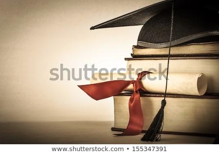 diplômé · diplôme · défiler · ruban · roulé - photo stock © frannyanne