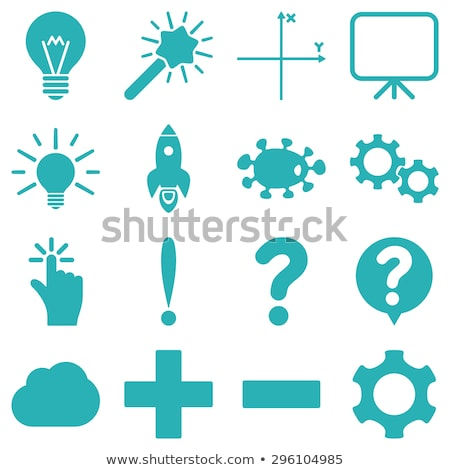 Conseils ampoule symbole cases 3D lettres Photo stock © marinini