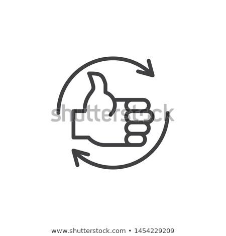 обратная связь Стрелки стороны маркер прозрачный Сток-фото © ivelin