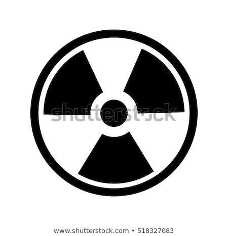 Radiazione simbolo segno isolato bianco Foto d'archivio © axstokes