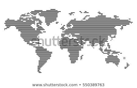 striped world map stock photo © derocz