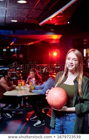 Bella Coppia parlando bowling amore Foto d'archivio © Jasminko