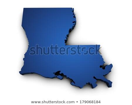 Map Of Louisiana State 3d Shape Stock photo © NiroDesign