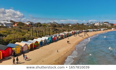 Colorful boat houses on Brighton Beach Australia Stock photo © leetorrens