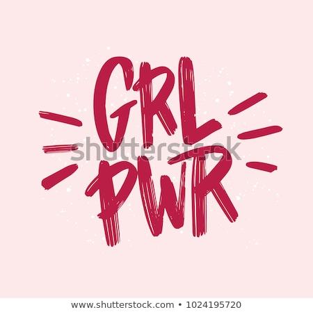 Girl power. stock photo © lithian