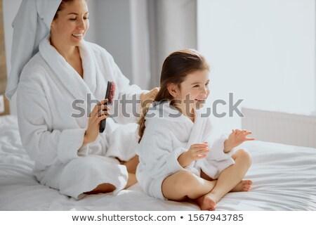 Lány anyák haj nő család anya Stock fotó © monkey_business